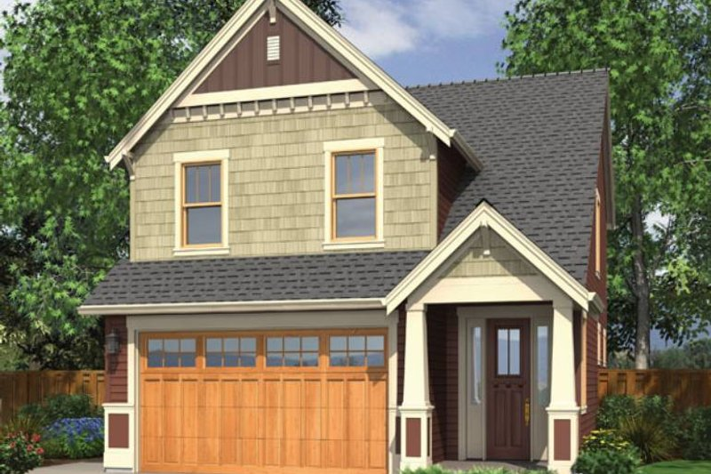 Craftsman Style House Plan - 3 Beds 2.5 Baths 1466 Sq/Ft Plan #48-436 Exterior - Front Elevation