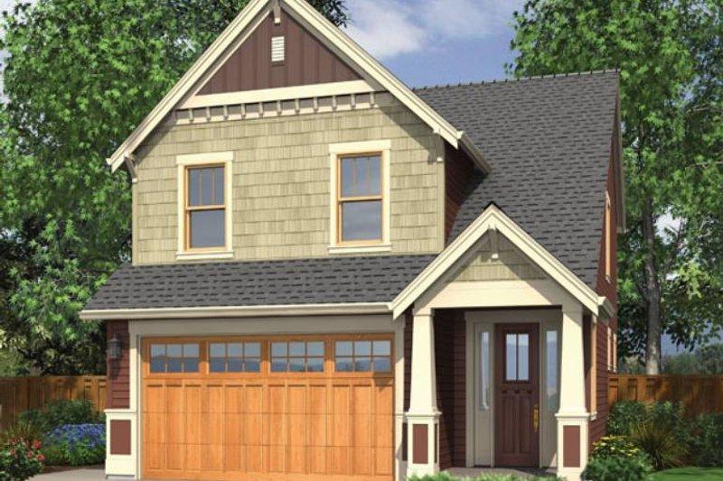 Dream House Plan - Craftsman Exterior - Front Elevation Plan #48-436