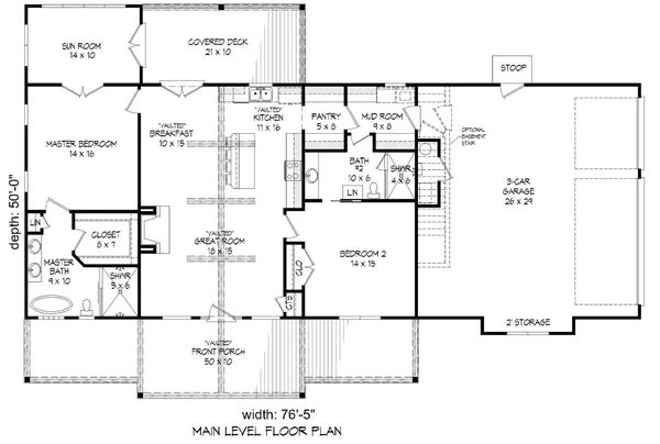 House Plan Design - Optional Basement