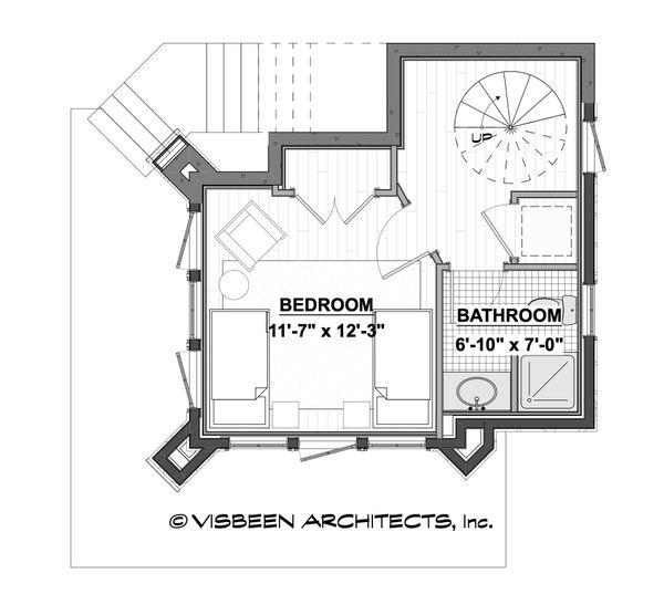 Architectural House Design - Cabin Floor Plan - Lower Floor Plan #928-362