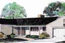 House Blueprint - Ranch Exterior - Front Elevation Plan #72-444
