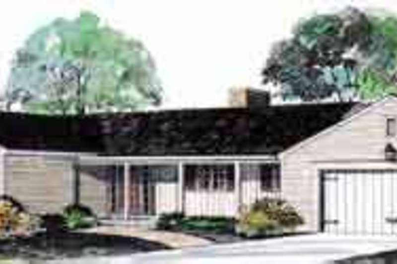Ranch Exterior - Front Elevation Plan #72-444 - Houseplans.com