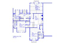 Tudor Floor Plan - Upper Floor Plan Plan #901-141