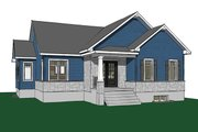 Ranch Style House Plan - 2 Beds 1 Baths 1313 Sq/Ft Plan #23-2616