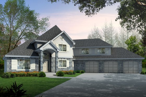 Country Exterior - Front Elevation Plan #112-158