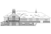 Home Plan - Traditional Exterior - Rear Elevation Plan #5-323