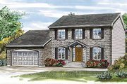 Colonial Style House Plan - 4 Beds 2.5 Baths 1938 Sq/Ft Plan #47-130 Exterior - Front Elevation