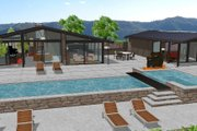 Modern Style House Plan - 3 Beds 2 Baths 2360 Sq/Ft Plan #544-3 Exterior - Front Elevation