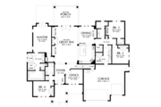 Craftsman Style House Plan - 4 Beds 4 Baths 3340 Sq/Ft Plan #48-681 Floor Plan - Main Floor Plan