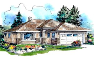 Traditional Exterior - Front Elevation Plan #18-1026