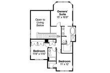 Craftsman Floor Plan - Upper Floor Plan Plan #124-556