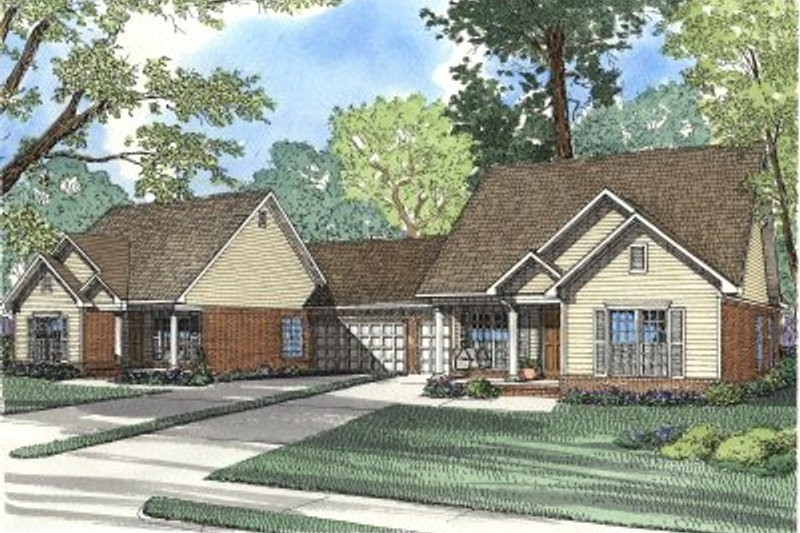 Dream House Plan - Traditional Exterior - Front Elevation Plan #17-1066