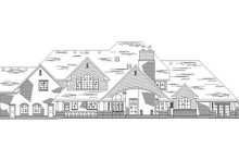Dream House Plan - European Exterior - Rear Elevation Plan #5-453