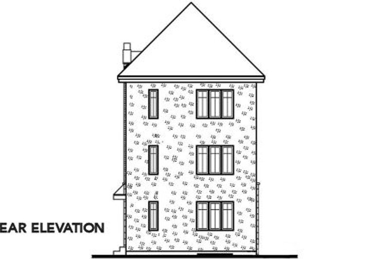 European Exterior - Rear Elevation Plan #23-2152 - Houseplans.com