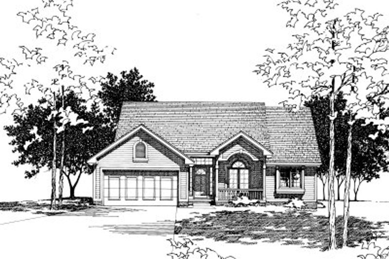 Traditional Exterior - Front Elevation Plan #20-149 - Houseplans.com