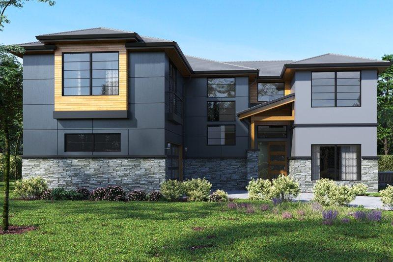 House Plan Design - Contemporary Exterior - Front Elevation Plan #1066-49