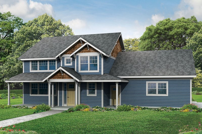 Country Exterior - Front Elevation Plan #124-968 - Houseplans.com