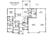 Ranch Style House Plan - 3 Beds 2.5 Baths 2506 Sq/Ft Plan #1010-225 Floor Plan - Main Floor Plan
