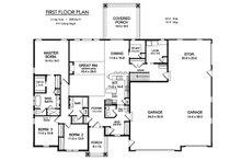 Ranch Floor Plan - Main Floor Plan Plan #1010-225