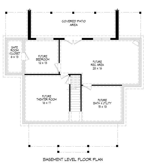 Traditional Floor Plan - Other Floor Plan #932-333