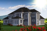 Southern Style House Plan - 3 Beds 3 Baths 2604 Sq/Ft Plan #70-1227 Exterior - Rear Elevation