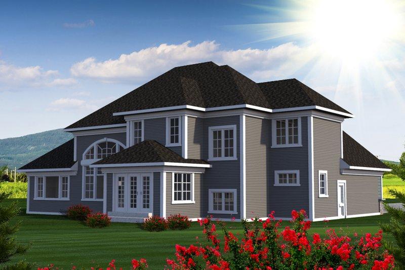 Southern Exterior - Rear Elevation Plan #70-1227 - Houseplans.com