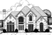 European Style House Plan - 5 Beds 4.5 Baths 3606 Sq/Ft Plan #317-122 Exterior - Front Elevation