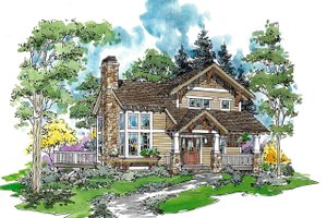Craftsman Exterior - Front Elevation Plan #970-2