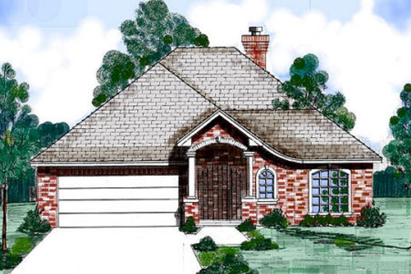 European Exterior - Front Elevation Plan #52-188