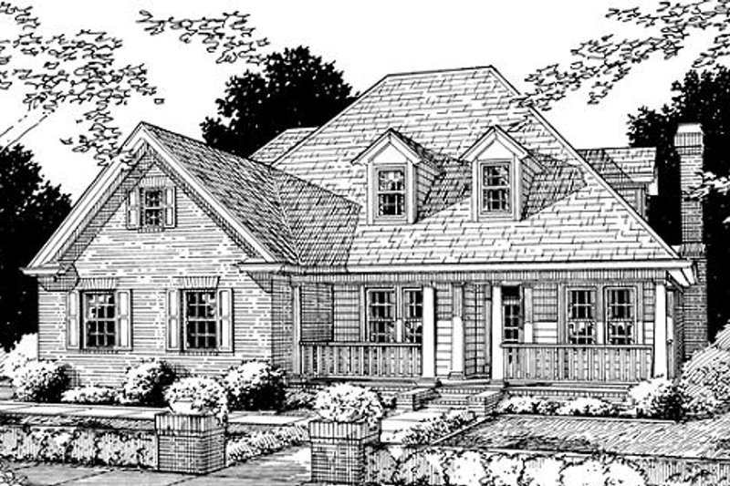 Traditional Exterior - Front Elevation Plan #20-324 - Houseplans.com