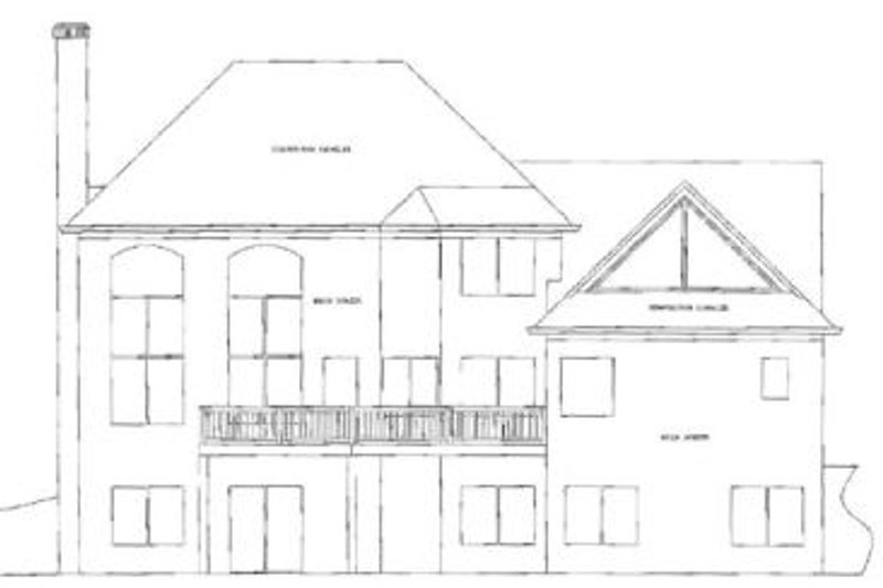 European Exterior - Rear Elevation Plan #56-190 - Houseplans.com
