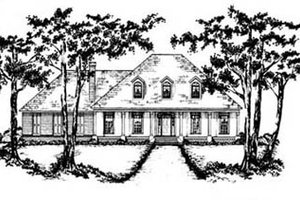 European Exterior - Front Elevation Plan #36-204