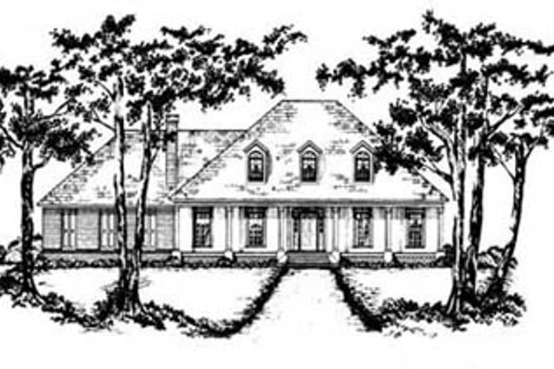 European Style House Plan - 3 Beds 2.5 Baths 2391 Sq/Ft Plan #36-204 Exterior - Front Elevation
