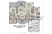 Farmhouse Style House Plan - 4 Beds 4 Baths 3319 Sq/Ft Plan #51-1156 Floor Plan - Main Floor Plan