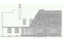 House Plan Design - European Exterior - Rear Elevation Plan #137-227