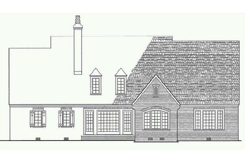 European Exterior - Rear Elevation Plan #137-227 - Houseplans.com