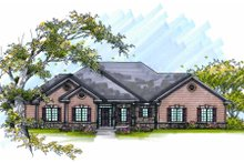 Home Plan - Traditional Exterior - Front Elevation Plan #70-979