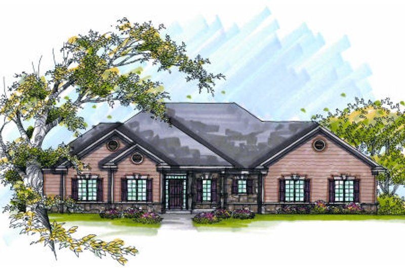Dream House Plan - Traditional Exterior - Front Elevation Plan #70-979