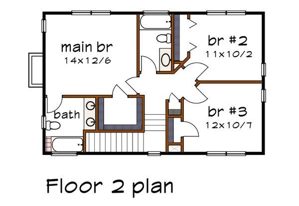 Modern Floor Plan - Upper Floor Plan #79-296