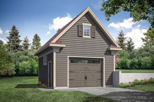 Dream House Plan - Country Exterior - Front Elevation Plan #124-1179