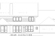 Country Style House Plan - 5 Beds 4 Baths 3914 Sq/Ft Plan #62-133 Exterior - Rear Elevation