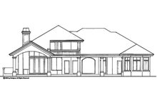 Mediterranean Exterior - Rear Elevation Plan #930-189