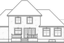 Dream House Plan - European Exterior - Rear Elevation Plan #23-829