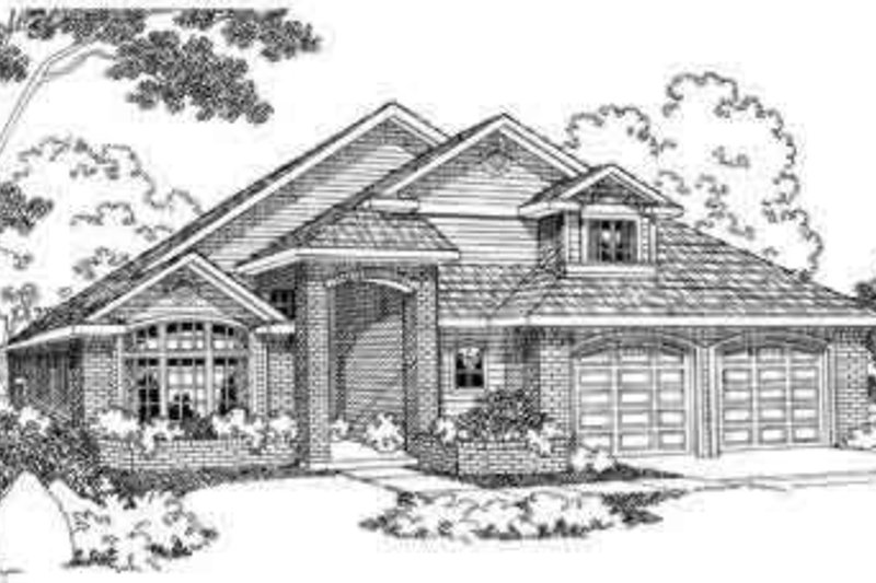 Modern Exterior - Front Elevation Plan #124-392
