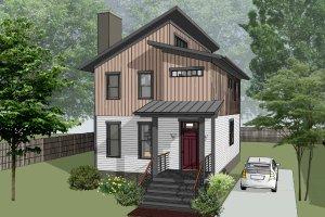 Architectural House Design - Modern Exterior - Front Elevation Plan #79-324