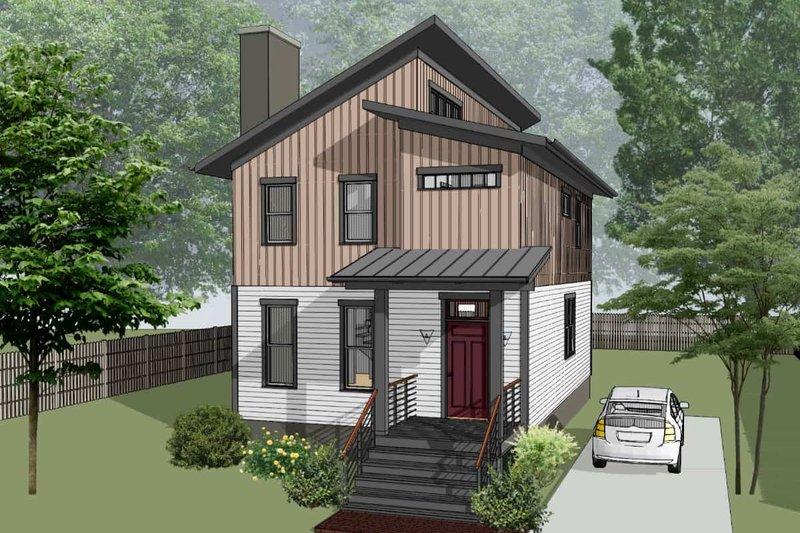 House Blueprint - Modern Exterior - Front Elevation Plan #79-324