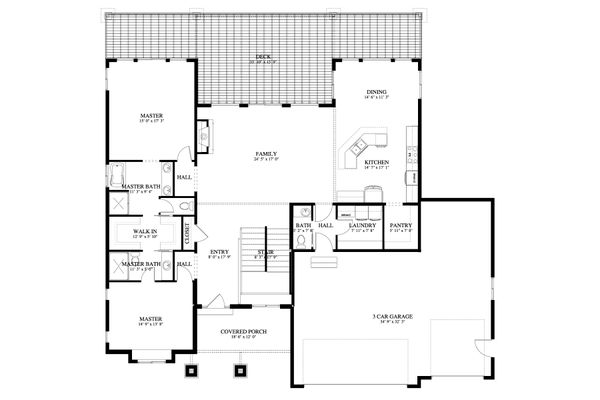 Traditional Floor Plan - Main Floor Plan #1060-69