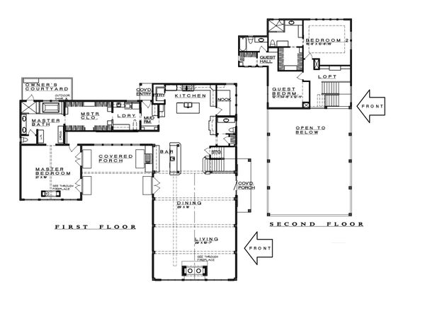 Farmhouse Floor Plan - Main Floor Plan Plan #935-17