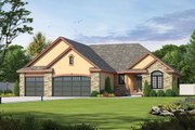 Traditional Style House Plan - 2 Beds 2.5 Baths 2083 Sq/Ft Plan #20-2088 Exterior - Front Elevation