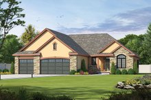 Dream House Plan - Traditional Exterior - Front Elevation Plan #20-2088